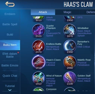 Haas's Claws